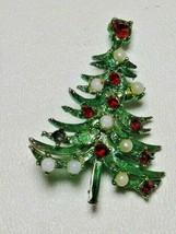1960s MYLU Christmas Tree Brooch Pin Vintage  - $19.75