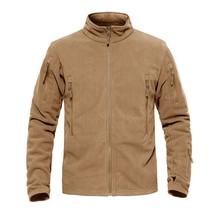 TACVASEN Men Winter Fleece Jacket Military Tactical Jacket Coat Men's Th... - $66.13