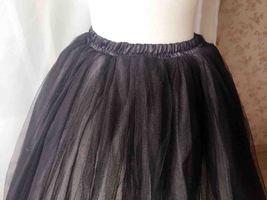 BLACK WHITE Tutu Skirt Designer Adult Tutus Photography Prop Elastic Plus Size image 3