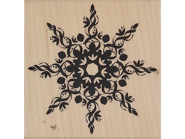 Hero Arts 2007 Grand Snowflake Wood Mounted Rubber Stamp #F4833