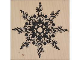 Hero Arts 2007 Grand Snowflake Wood Mounted Rubber Stamp #F4833 image 1
