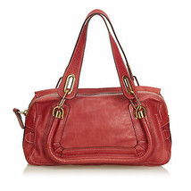 Pre-Loved Chloe Red Others Leather Paraty Handbag France - $558.09