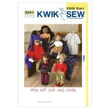 Kwik Sew K3091 Doll Clothes Sewing Pattern, Size Fits 18-Inch Dolls - $15.68