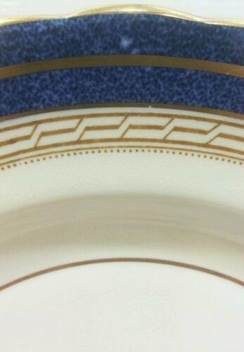 "Aysnley Wadsworth Bone China 10.5"" Dinner Plate England Cobalt Blue Floral"