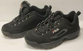 FILA Disruptor II 2 Trainers Chunky Shoes Sneakers - Black FS1HTA1078X Size 6 - $54.43