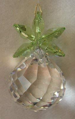 Clear and Peridot Pineapple Ornament with Austrian Crystal