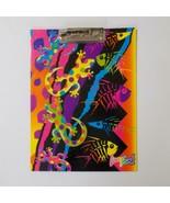 Lisa Frank Gecko Clipboard Fish Bones Leopard Print 1990s - $34.64