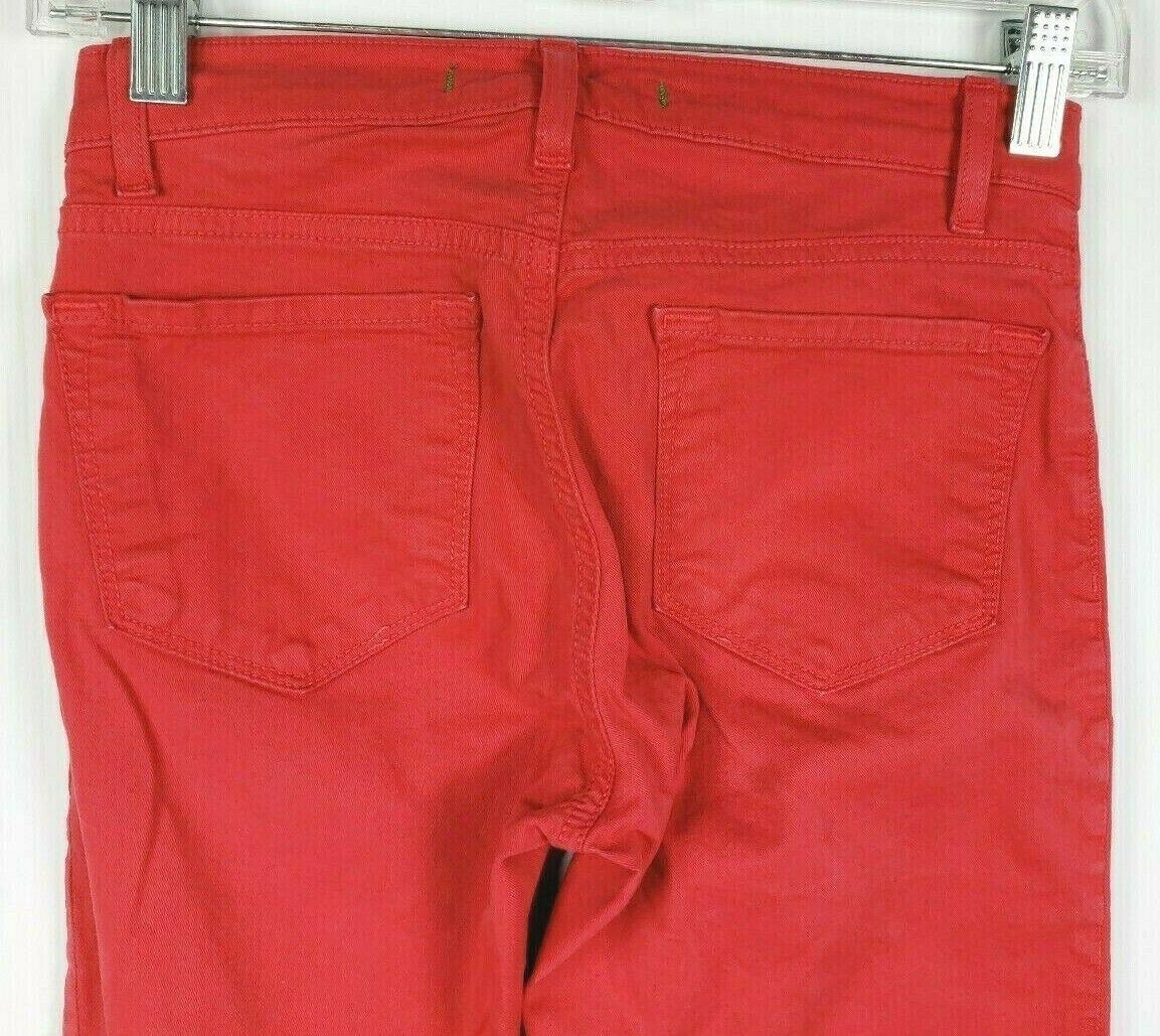 """J Brand """" Skinny Gamba """" Rosso Jeans 24 Cotone Elasticizzato Stile #811K120 image 4"""