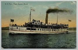 Old Divided Back Postcard 1915 S.S. Flyer Steampship, Puget Sound, Washi... - $14.65