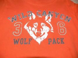 Carters Long Sleeves Orange Wolf Camo Shirt Boys 6 nb - $5.50