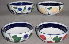 Set (4) Dansk Berries Pattern Cereal Bowls - $89.09