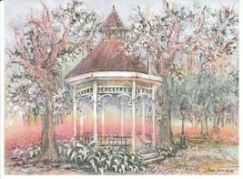 Vintage Greeting Card Savannah Georgia Gazebo Romance Garden Sharon Sase... - $7.91