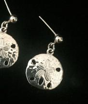 Vintage Golden Sand Dollar post earrings image 3