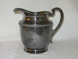 """EPNS Silverplate Water Pitcher 5 PINTS Vintage Marked F Crown 9"""" Tall - $25.24"""