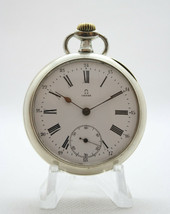 OMEGA MANUAL STAINLESS STEEL SWISS MADE 15 JEWELS POCKET WATCH - $467.15