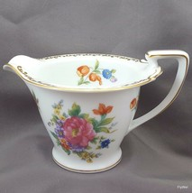 Noritake Dresdlina Creamer 6 Oz  White Fine China Multi-Colored Floral G... - $14.85