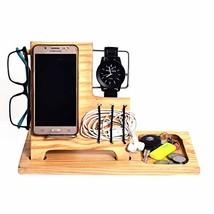 WILLART Wood Phone Docking Station, Ash Desk Organizer, Tablet Holder, K... - $25.92