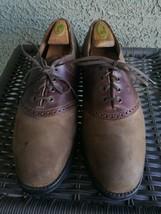 Allen Edmonds Milbrook Brown Suede & Leather Saddle Shoes-Size:11D-Rubbe... - $49.49