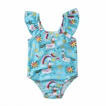 Cute Toddler Kids Baby Girls Unicorn Rainbow Swimwear Swimsuit Bathing B... - $8.90+