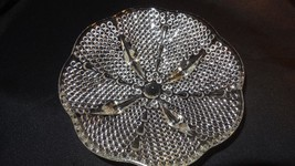 Vintage Hazel Atlas Footed Clear Glass Hobnail and Tear Drop Patten Cand... - $9.99