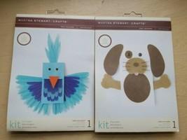 Lot 2 Martha Stewart Create Child Craft Kits  Puppet Kit Puppy Dog & Bird - $11.95
