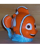 DISNEY Orange ClownFish NEMO Figural Plastic Cup Mug with Flip Top - $7.49
