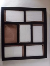 """6 Picture Multi Picture Frame Black Metal 5 1/2"""" x 3 1/2""""  and  3 1/2"""" x... - $28.68"""