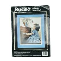 "Bucilla Counted Cross Stitch Kit #40904 VTG 1994 HARMONY 11""x14"" Missing Needle  - $24.95"