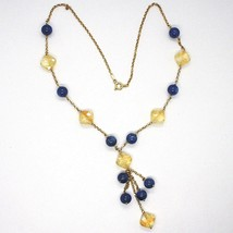 Silver 925 Necklace, Yellow, Citrine, Kyanite, Pendant Cluster image 2