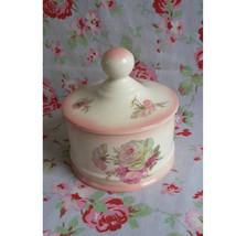Vintage English James Kent Staffordshire Old Foley Jar & Lid Flowers Apo... - $30.00