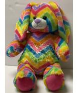 "Build A Bear Rainbow Chevron Zigzag Easter Bunny Rabbit Plush 16"" Stuffe... - $27.99"