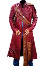 Guardians Of Galaxy Star Lord Chris Peter Quill Costume Leather Trench Coat image 5