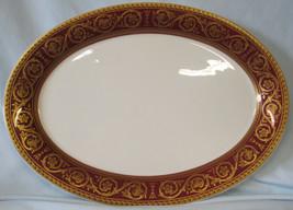 "Castleton Flamenco Red Gold 15"" Oval Platter - $98.89"