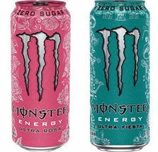 Brand New Monster Energy Ultra Fiesta & Ultra Rosa 16 ounce cans (2 Flav... - $43.55