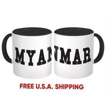 Myanmar : Mug Flag College Script Calligraphy Country Gift Expat - $13.76+