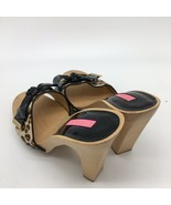 Besty Johnson Clog Heels, Black Patent Leather Bow, Size 10.0M - $29.70