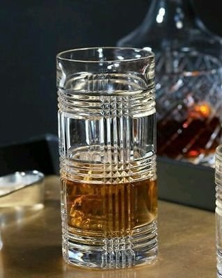 Ralph Lauren Glen Plaid Crystal Highball Glass (1)