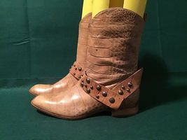 Patrizia Pepe Genuine Croc Leather Boots Size US 7-7.5 - $32.18