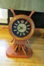 Madera Naútico Barco y Rueda Polea Reloj Barco Knotts Pantalla Marineros Boaters - $31.97