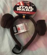 Star Wars Princess Leia Dog Costume Headband~Disney~Medium / Large~New~O... - $4.49
