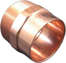 Copper 2 inches male fitting copper male  brand ksd lot of 4 pieces  - $39.99
