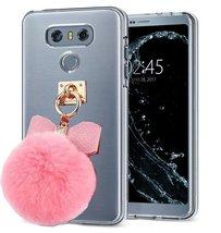 HTC U Play Case,Creative Handmade Warm Fluffy Fur Ball and Decorative Bo... - $11.87