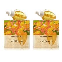 x4 ~ Bath & Body Works HONEYSUCKLE Wallflower Home Fragrance Oil Bulb Re... - $32.66