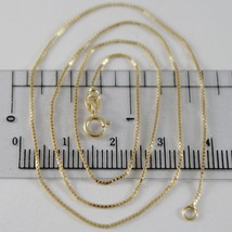 18K YELLOW GOLD CHAIN MINI 0.8 MM VENETIAN SQUARE LINK 15.75 INCH MADE IN ITALY  image 1