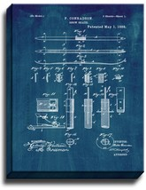 Ski Patent Print Midnight Blue on Canvas - $39.95+