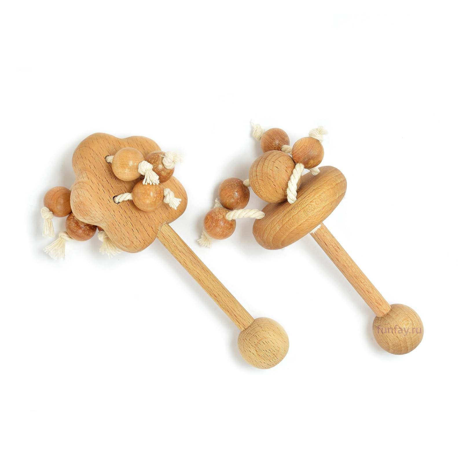 "Primary image for Wooden Teethers ""Apple Tree"" and ""Carousel"". Beech Rattles Toy. Organic Baby Toy"