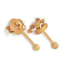 "Wooden Teethers ""Apple Tree"" and ""Carousel"". Beech Rattles Toy. Organic ... - $37.49"