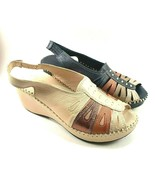 Bonavi Venice Leather Wedge Slingback Open Toe Sandals Choose Sz/Color - $116.10