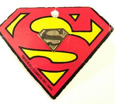 Vintage 1977 DC comics Superman Gold tone Metal Tie Lapel Pin on original Card - $33.90