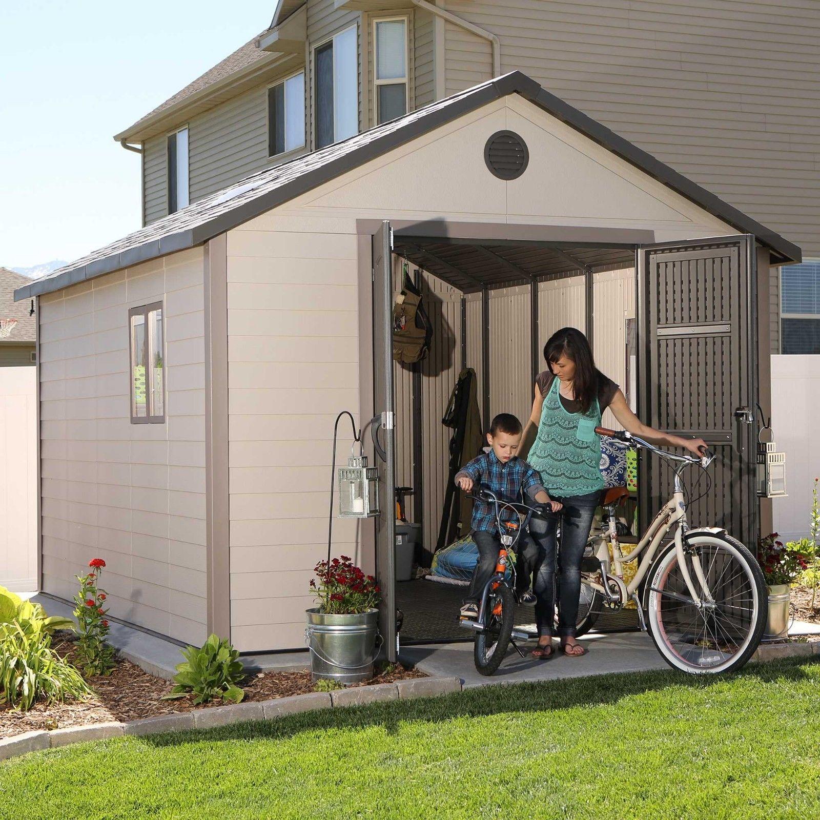 Lifetime 11x16 Plastic Outdoor Storage Shed w/ Floor (6415 / 0125)